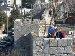 Walking on the Wall of Jerusalem